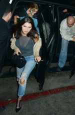 BELLA HADID at The Nice Guy in West Hollywood 11/24/2015