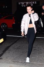 BELLA HADID Night Out in new York 11/09/2015