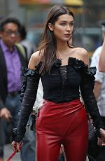 BELLA HADID on the Set of a Photoshoot in New York 11/05/2015