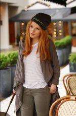 BELLA THORNE at Midnight Sun Film Set in Vancoucer 11/11/2015