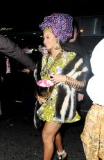 BEYONCE Arrives at Halloween Parade at Charlie Bird Restaurant in New York 10/31/2015