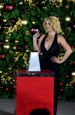 BRITNEY SPEARS at Christmas Tree-lighting Ceremony at Linq Promenade in Las Vegas 11/21/2015