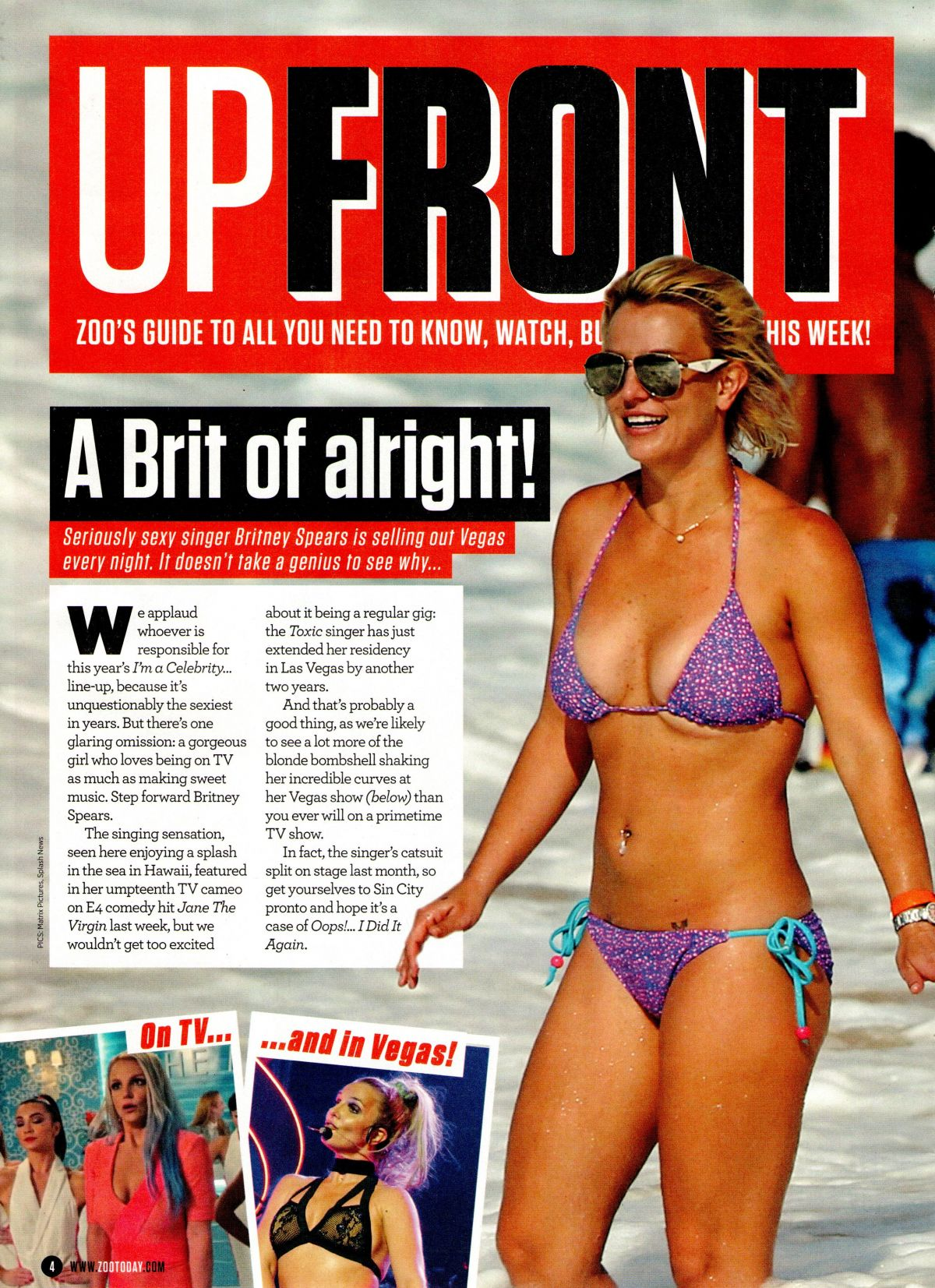 BRITNEY SPEARS in Bikini in Zoo Magazine, 20th November 2015 Issue