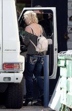BRITNEY SPEARS Leaves a Recording Studio in Calabasas 11/03/2015