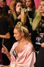 CANDICE SWANEPOEL at Victoria's Secret 2015 Fashion Show Backstage in New York 11/10/2015