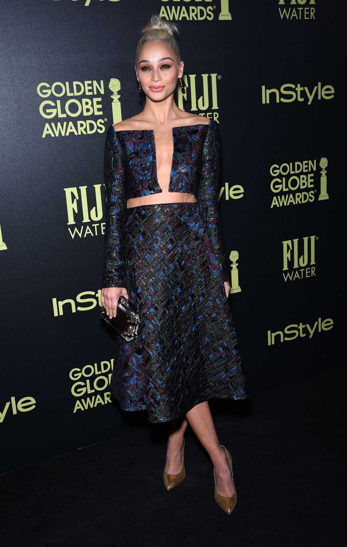 CARA SANTANA at hfpa and Instyle Celebrate 2016 Golden Globe Award Season in West Hollywood 11/17/2015