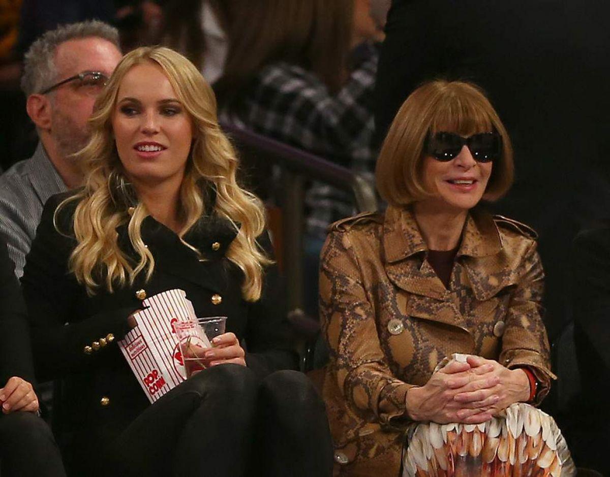 CAROLINE WOZNIACKI at NBA Game at Madison Square Garden in New York 11/13/2015