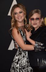 CARRIE FISHER ind BILLIE LOURD at 7th Annual Governors Awards in Hollywood 11/14/2015