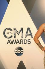 CASSADEE POPE at 49th Annual CMA Awards in Nashville 11/04/2015