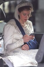 CLAIRE FOY Has Been Injured on the Set of The Crown in England 11/15/2015