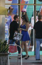 CLAUDIA ROMANI in Mini Dress while Sshopping on Lincoln Road in Miami Beach 11/23/2015