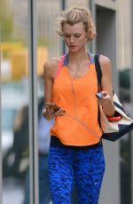 CONSTANCE JABLONSKI in Leggings Leaves a Gym in New York 10/29/2015