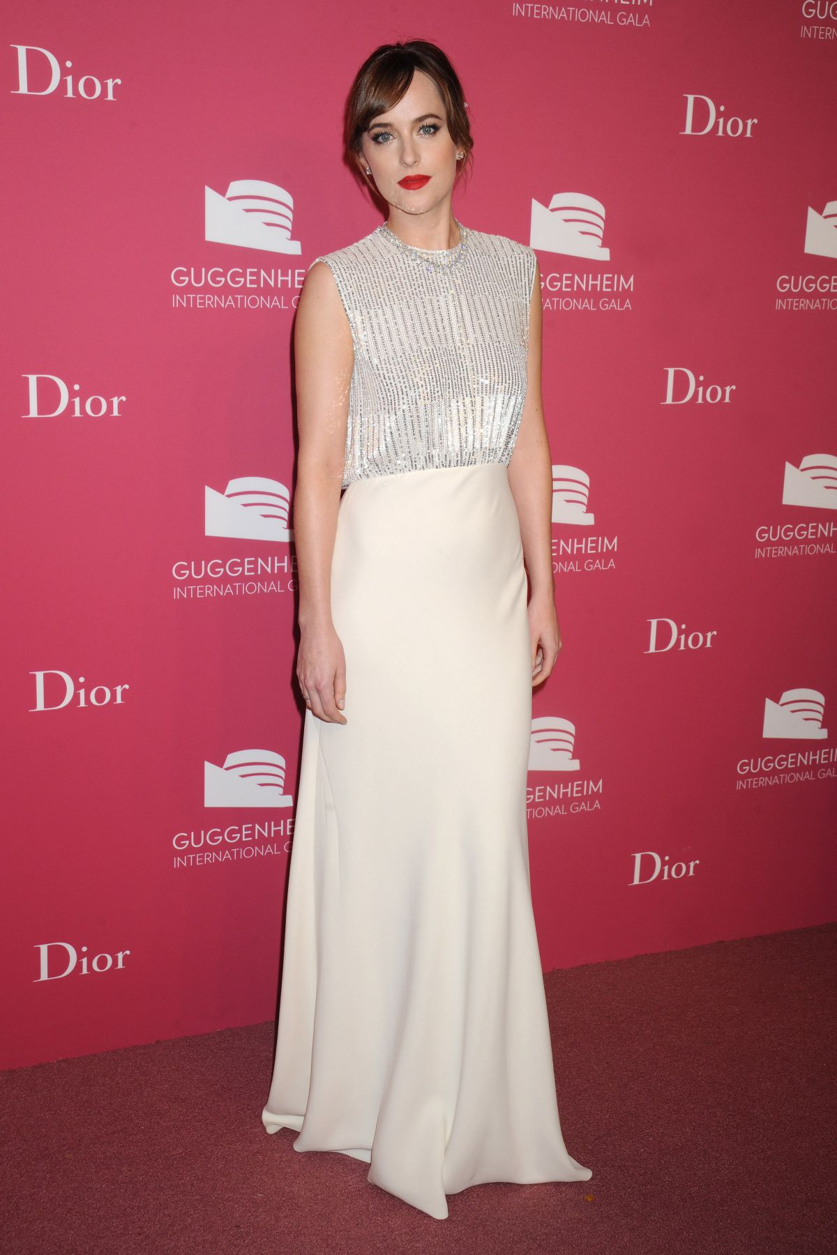 DAKOTA JOHNSON at 2015 Guggenheim International Gala Dinner in New York 11/05/2015
