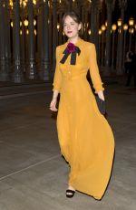 DAKOTA JOHNSON Leaves LACMA Art and Film Gala in Los Angeles 11/07/2015