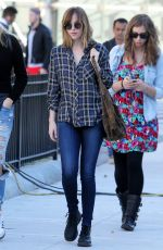 DAKOTA JOHNSON Out and About in New York 11/04/2015