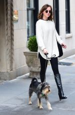 DAKOTA JOHNSON Walks Her Dog Out in West Village 11/06/2015