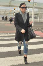 DEMI LOVATO at Heathrow Airport in London 11/09/2015