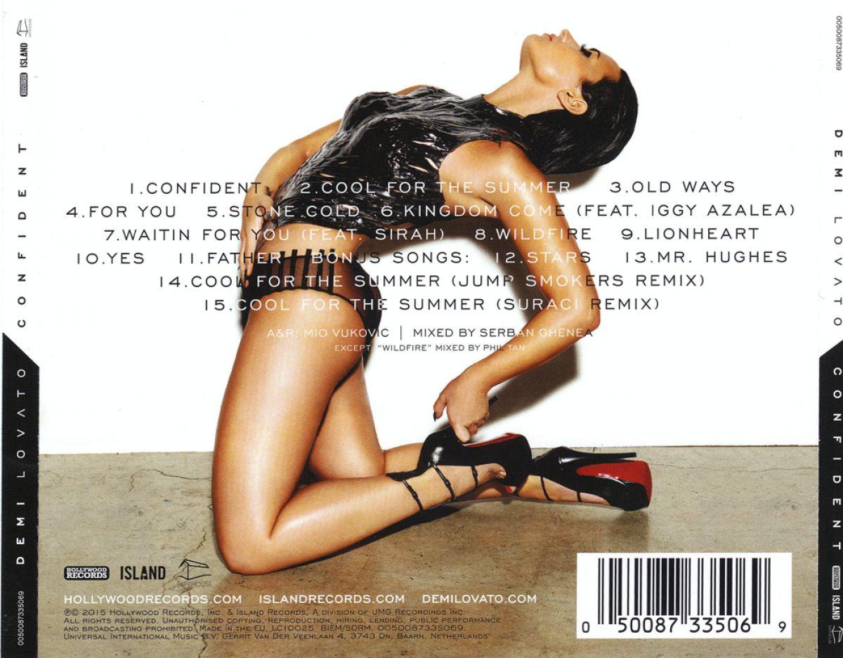 DEMI LOVATO - Confident Album Back-cover
