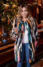 DIONNE BROMFIELD at Hogwarts in the Snow Launch at Warner Bros. Studio Tour London in Watford 11/12/2015