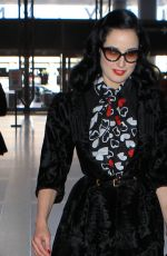DITA VON TEESE Arrives at LAX Airport in Los Angeles 04/11/2015