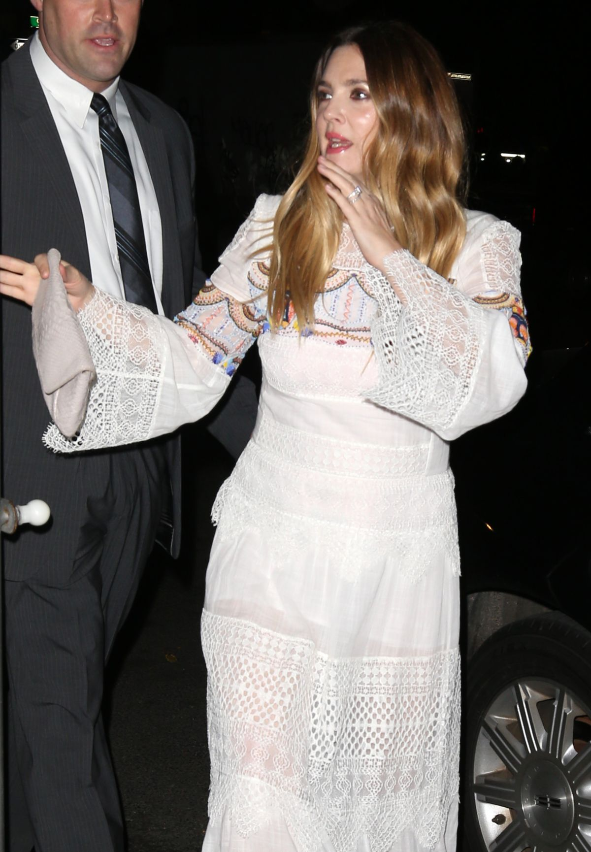 DREW BARRYMORE Night Out in New York 11/12/2015