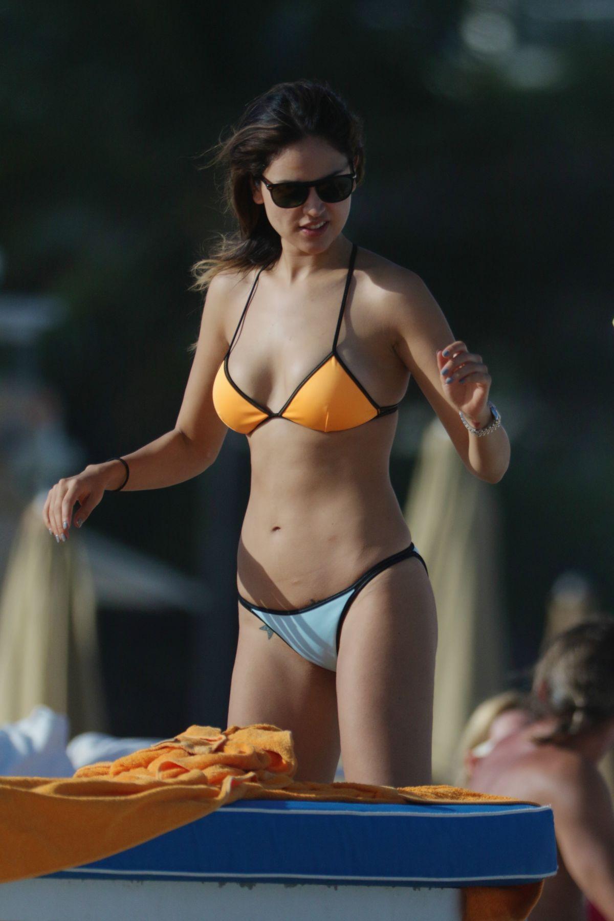 EIZA GONZALEZ in Bikini at a Beach in Miami 11/27/2015 ...