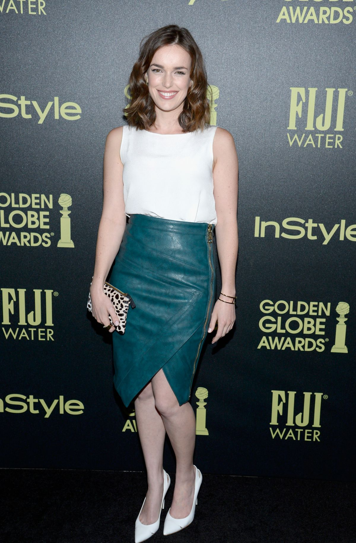 ELIZABETH HENSTRIDGE at hfpa and Instyle Celebrate 2016 Golden Globe Award Season in West Hollywood 11/17/2015