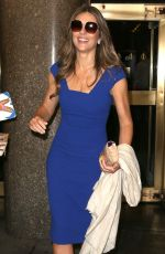 ELIZABETH HURLEY Leaves Today Show in New York 11/10/2015