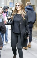 ELIZABETH HURLEY Leaving SiriusXM Radio in New York 11/11/2015
