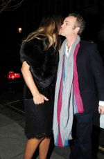 ELIZABETH HURLEY Night Out in London 11/25/2015