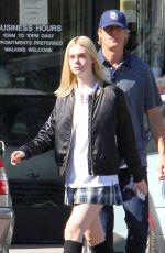 ELLE FANNIN in Plaid Skirt Out in Los Angeles 11/03/2015