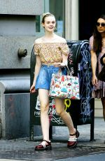 ELLE FANNING Out and About in New York 11/06/2015