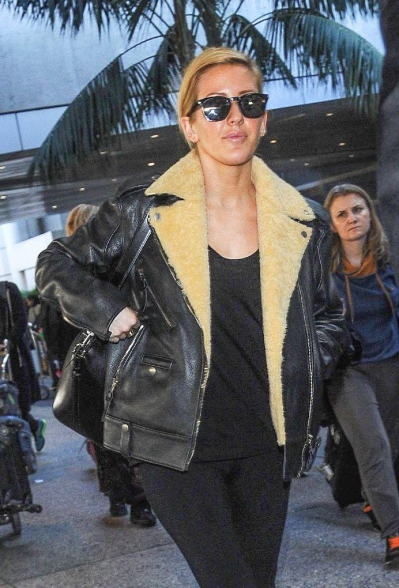ELLIE GOULDING Arrives at LAX Airport in Los Angeles 11/21/2015