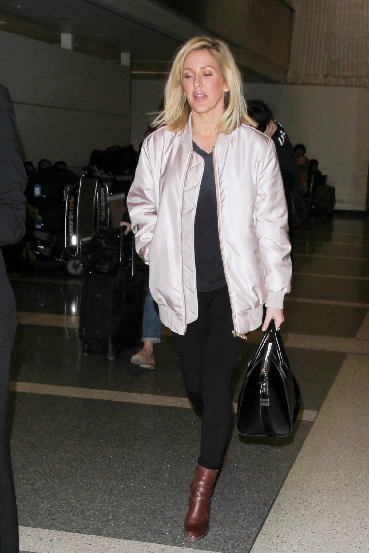 ELLIE GOULDING at LAX Airport in Los Angeles 11/25/2015
