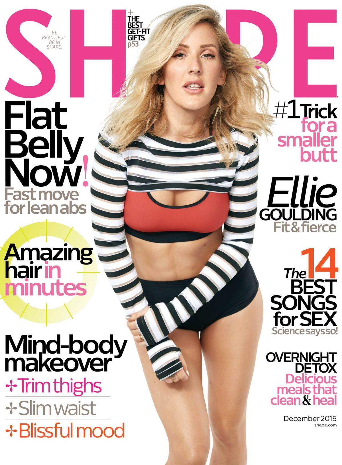 ELLIE GOULDING in Shape Magazine, December 2015 Issue