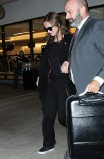 EMILY BLUNT at LAX Airport in Los Angeles 11/16/2015