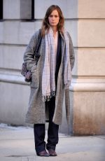 EMILY BLUNT on the Set of Girl on the Train in New York 11/04/2015