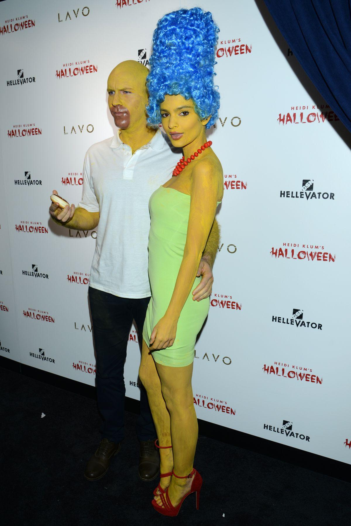 EMILY RATAJKOWSKI at Heidi Klum Halloween Party in New York 10/31 ...