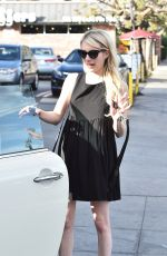 EMMA ROBERTS Out and About in Los Angeles 11/02/2015