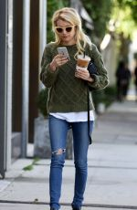 EMMA ROBERTS Out in Los Angeles 11/03/2015
