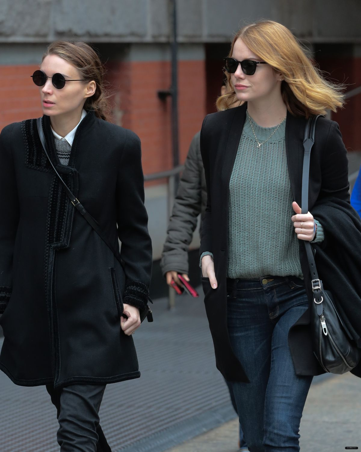 EMMA STONE and ROONEY MARA Out and About in New York 11/118/2015