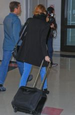 EMMA STONE at Los Angeles International Airport 11/24/2015