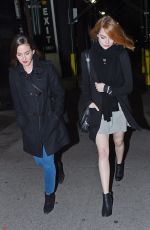 EMMA STONE Night Out in New York 11/22/2015
