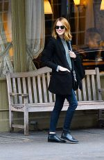 EMMA STONE Out and About in New York 11/18/2015