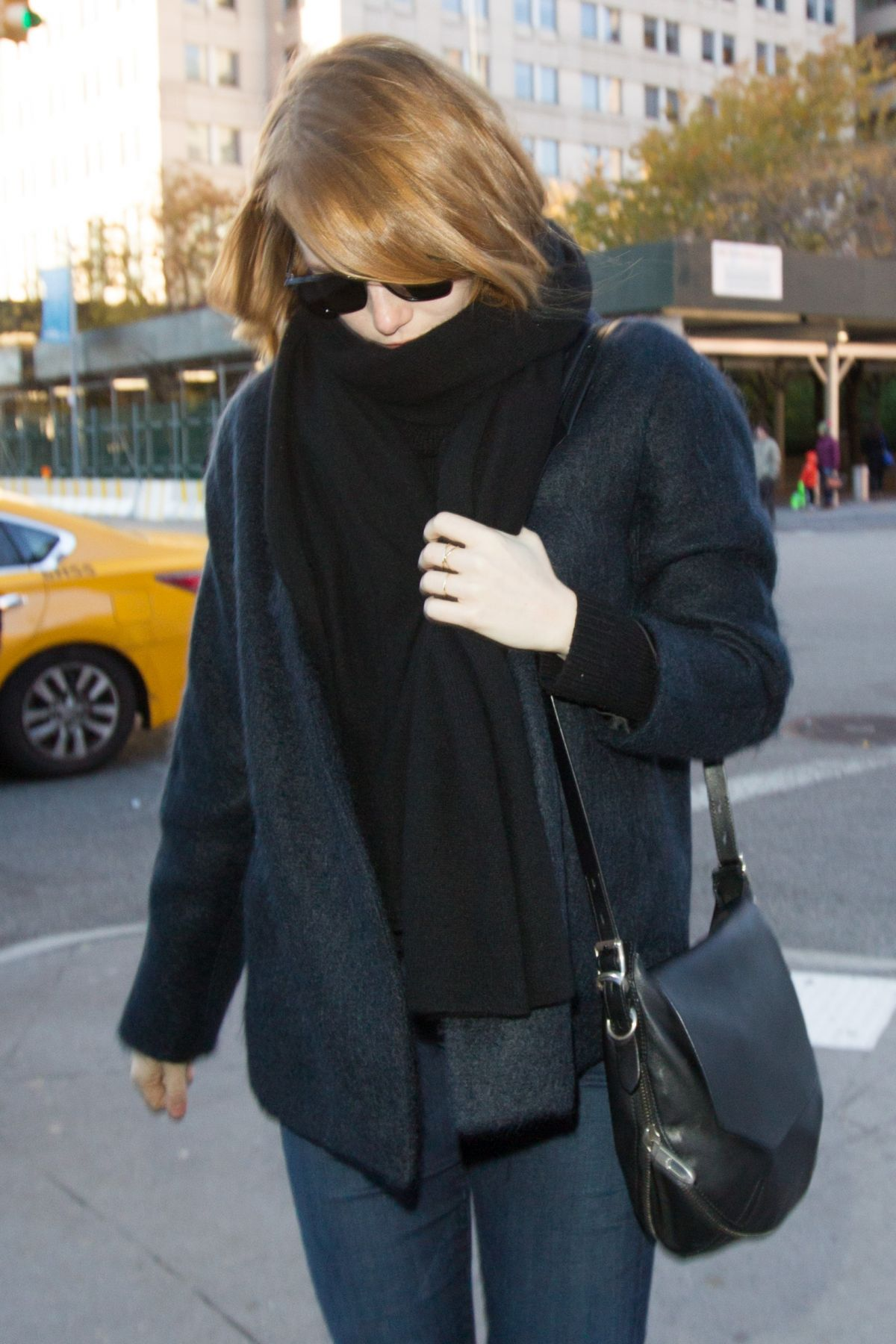 EMMA STONE Out and About in New York 11/23/2015