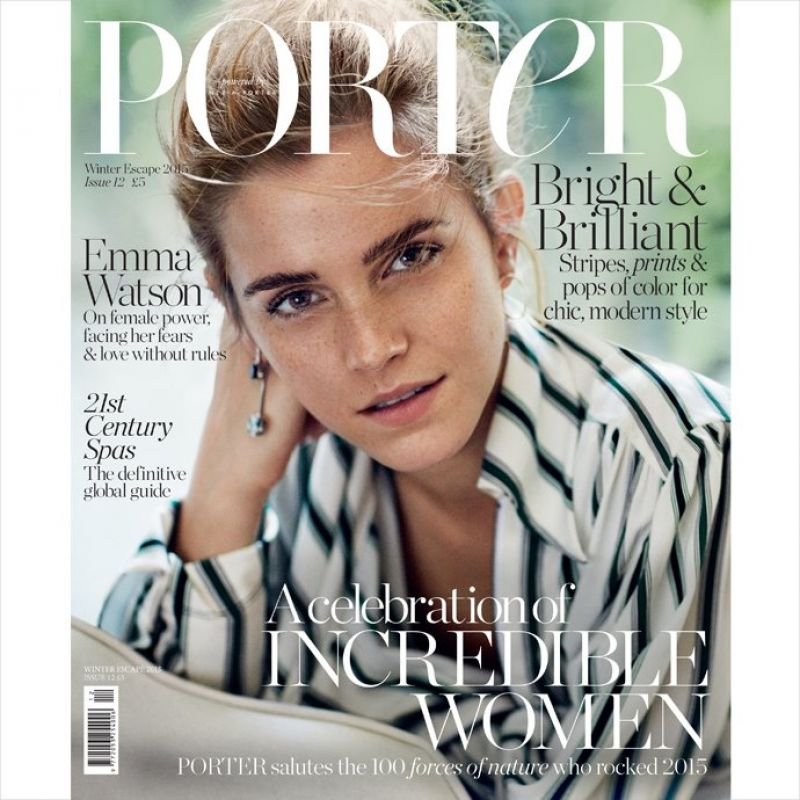 EMMA WATSON on the Cover of Porter Magazine, Winter 2015 Issue