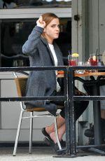 EMMA WATSON Out for Breakfast in New York 11/02/2015
