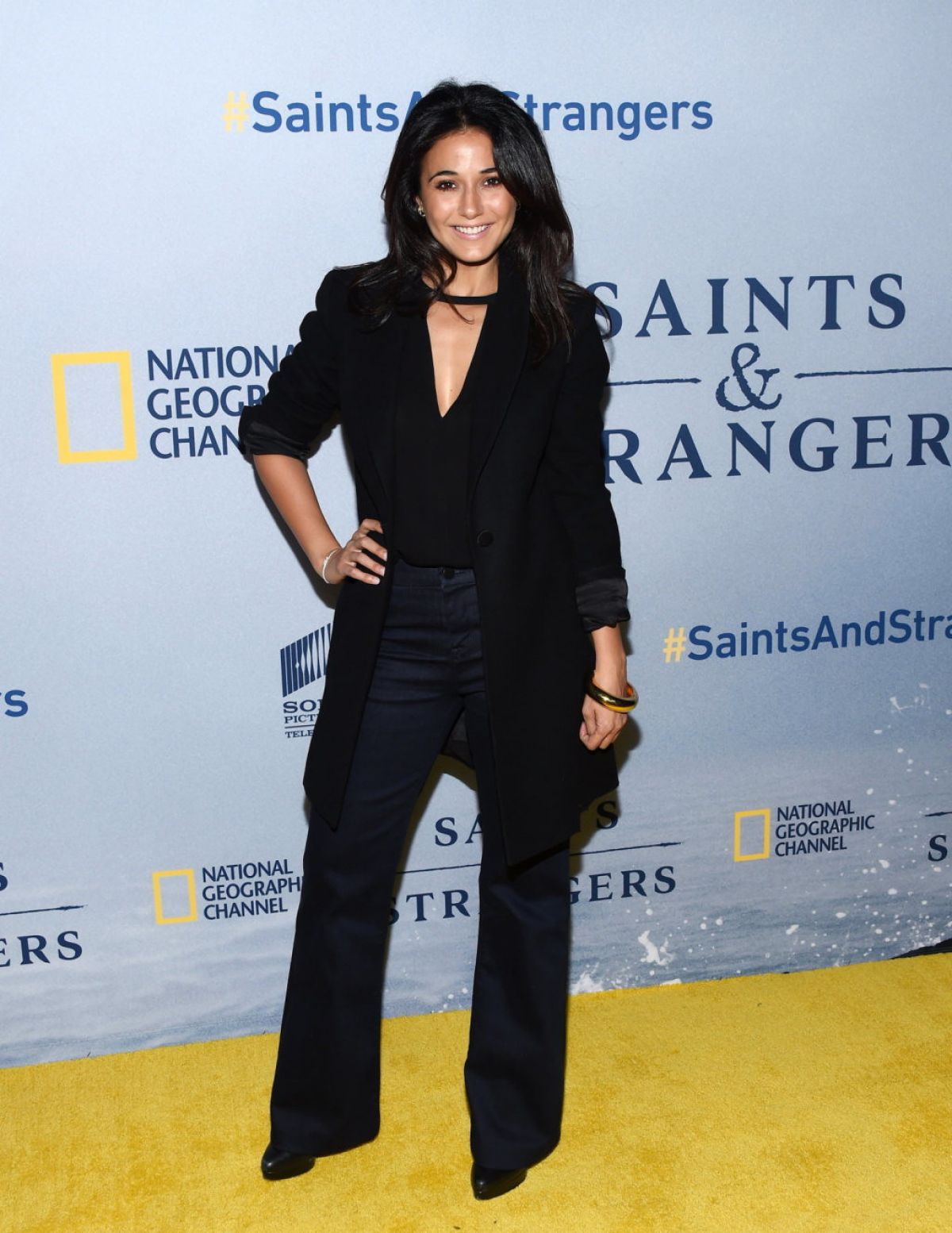 EMMANUELLE CHRIQUI at Saints and Strangers Premiere in Beverly Hills 11/09/2015