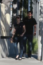 EMMY ROSSUM and Sam Esmail Out and About in Los Angeles 11/07/2015