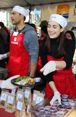 EMMY ROSSUM at Mission Thanksgiving for The Homeless in Los Angeles 11/25/2015